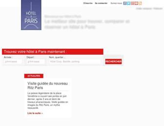 hotelaparis.com screenshot