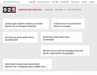 Main page screenshot of 925.nl