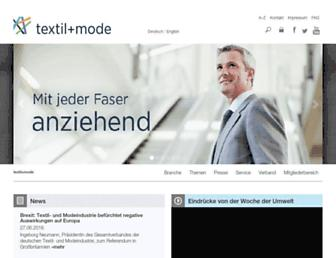 Main page screenshot of textil-mode.de