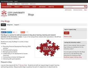 blogs.city.ac.uk screenshot