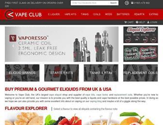 Thumbshot of Vapeclub.co.uk