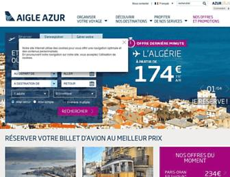 aigle-azur.com screenshot