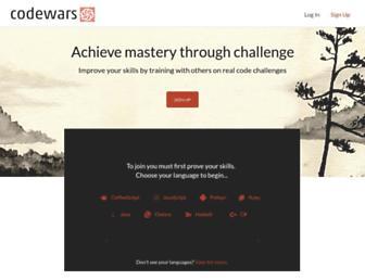 Thumbshot of Codewars.com