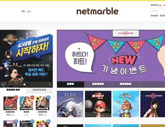 Main page screenshot of netmarble.net