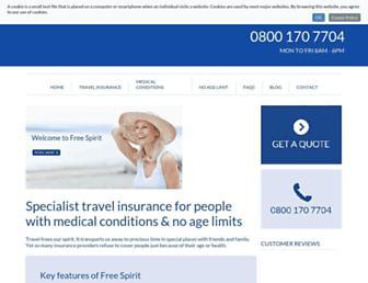 freespirittravelinsurance.com screenshot