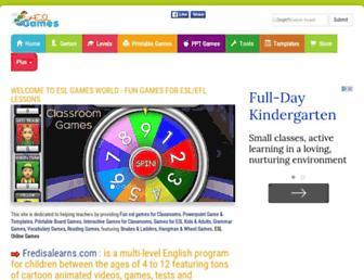 eslgamesworld.com screenshot