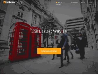 intouchapp.com screenshot