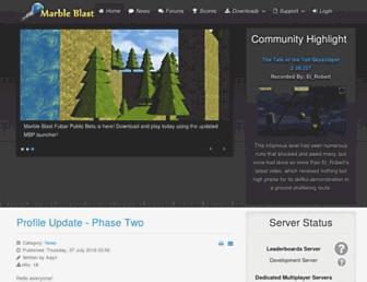marbleblast.com screenshot