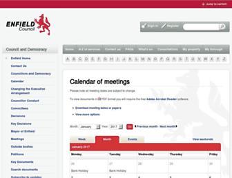 governance.enfield.gov.uk screenshot