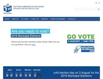 Thumbshot of Elections.org.za