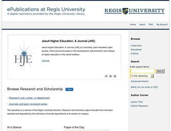 epublications.regis.edu screenshot