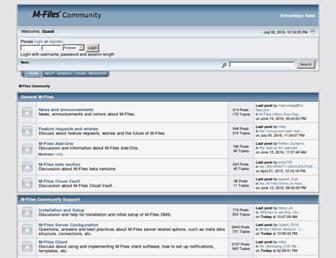 community.m-files.com screenshot