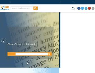 Thumbshot of Yourdictionary.com