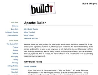buildr.apache.org screenshot