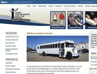Main page screenshot of idbonline.org