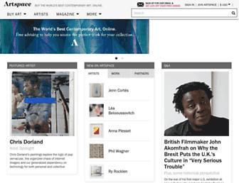 artspace.com screenshot