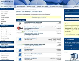 Main page screenshot of pharma-zeitung.de