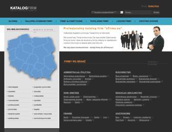 Main page screenshot of efirma.eu