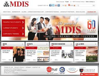 mdis.edu.sg screenshot