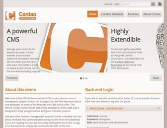 demo.contao.org screenshot