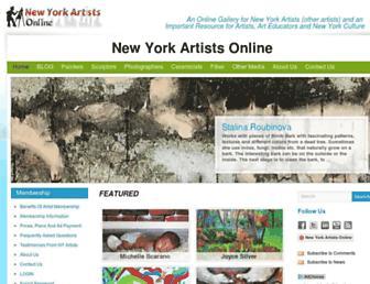newyorkartists.net screenshot