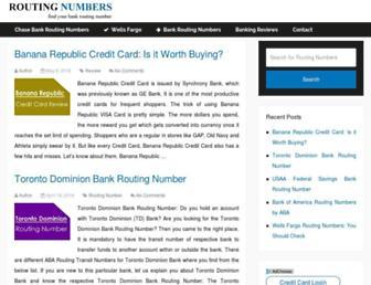 findroutingnumber.com screenshot