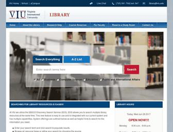 Main page screenshot of library.viu.edu