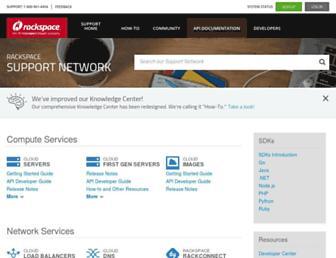 docs.rackspace.com screenshot