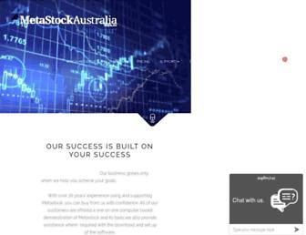 metastockaustralia.com.au screenshot