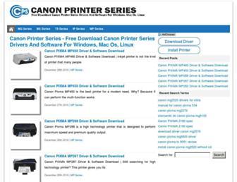 canonprinterseries.com screenshot