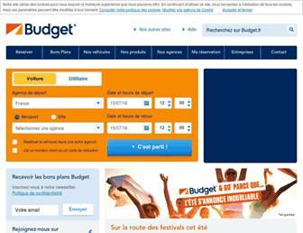 Main page screenshot of budget.fr