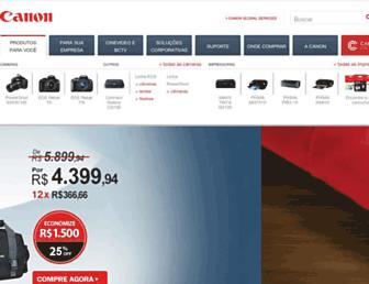 canon.com.br screenshot