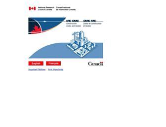 codes-guides.nrc.ca screenshot