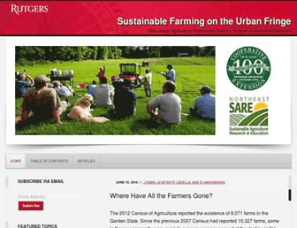 sustainable-farming.rutgers.edu screenshot