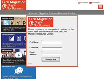 lyncmigration.com screenshot