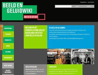 Main page screenshot of beeldengeluidwiki.nl