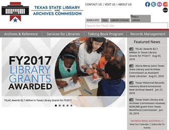 tsl.texas.gov screenshot