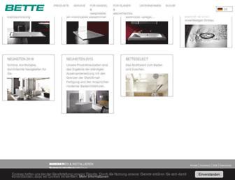 Main page screenshot of bette.de