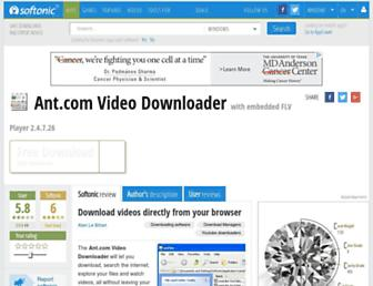 antcom-video-downloader.en.softonic.com screenshot