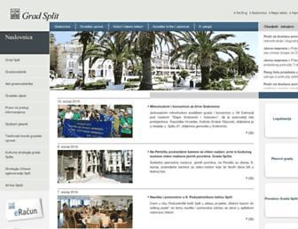 Main page screenshot of split.hr