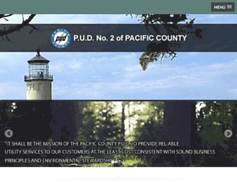 Main page screenshot of pacificpud.org