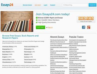 essays24.com screenshot