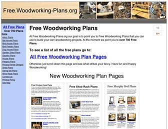 Main page screenshot of woodworking-plans.org