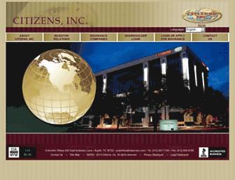 citizensinc.com screenshot