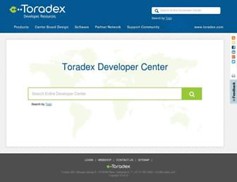 developer.toradex.com screenshot