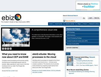 Main page screenshot of ebizq.net