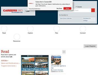 law.careers360.com screenshot