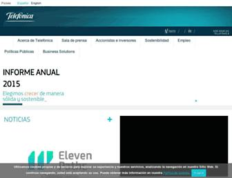 telefonica.com screenshot