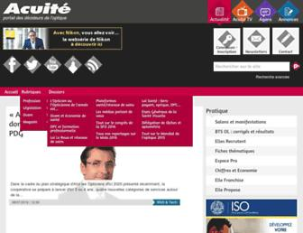Main page screenshot of acuite.fr