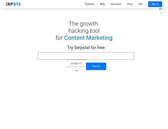 serpstat.com screenshot